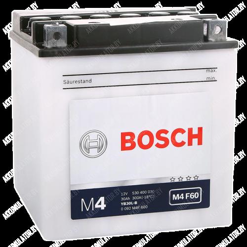 Аккумулятор Bosch M4 YB30L-B 530 400 030 30Ah