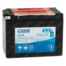 Аккумулятор Exide Maintenance Free ETR4A-BS 2.3Ah