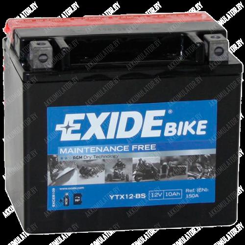 Аккумулятор Exide Maintenance Free ETX12-BS 10Ah