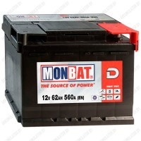 Аккумулятор Monbat Dynamic 62 R / 62Ah / 560А