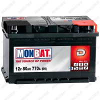 Аккумулятор Monbat Dynamic 80 R / Низкий / 80Ah / 770А