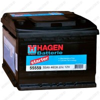 Аккумулятор Hagen Starter 55559 / 55Ah R