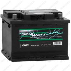 Аккумулятор GIGAWATT G60R / 60Ah / Низкий