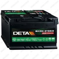 Аккумулятор DETA Micro-Hybrid AGM DK700 / 70Ah