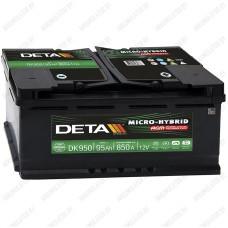 Аккумулятор DETA Start-Stop AGM DK950 / 95Ah