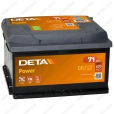 Аккумулятор DETA Power DB712 / 71Ah / Низкий