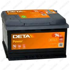 Аккумулятор DETA Power DB741 / 74Ah
