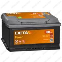 Аккумулятор DETA Power DB802 / 80Ah / Низкий
