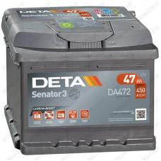 Аккумулятор DETA Senator3 DA472 / 47Ah / Низкий