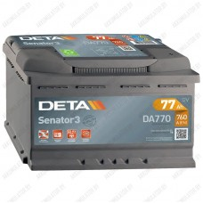 Аккумулятор DETA Senator3 DA770 / 77Ah