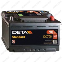 Аккумулятор DETA Standard DC700 / 70Ah