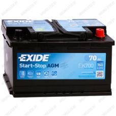 Аккумулятор Exide Hybrid AGM EK700 / 70Ah
