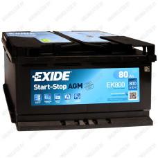 Аккумулятор Exide Hybrid AGM EK800 / 80Ah