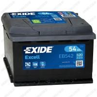 Аккумулятор Exide Excell EB542 / 54Ah / Низкий