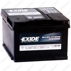 Аккумулятор Exide Micro-Hybrid ECM EL600 / 60Ah