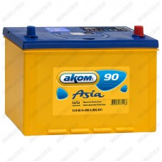 Аккумулятор AKOM Asia 6СТ-90VL / 90Ah