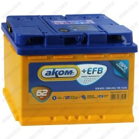 Аккумулятор AKOM +EFB / 62Ah