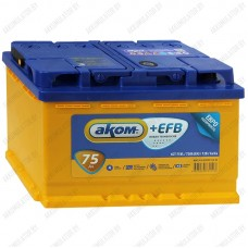 Аккумулятор AKOM +EFB / 75Ah