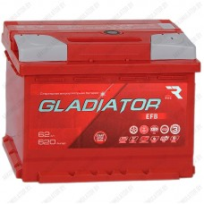 Аккумулятор Gladiator EFB / 62 R