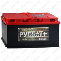 Аккумулятор РусБат Плюс 6СТ-100 L