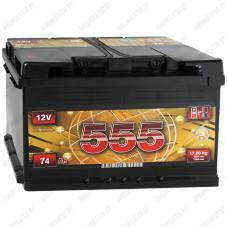 Аккумулятор 555 6СТ-74-А3 L / 75Ah