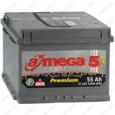 Аккумулятор A-Mega Premium 6СТ-55-А3 R / 55Ah