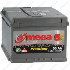 Аккумулятор A-Mega Premium 6СТ-55-А3 L / 55Ah