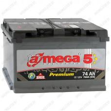 Аккумулятор A-Mega Premium 6СТ-74-А3 R / 74Ah