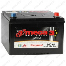 Аккумулятор A-Mega Standart Asia 100 JR / 100Ah