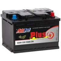Аккумулятор AutoPart Plus 555-200 / 55Ah / Низкий