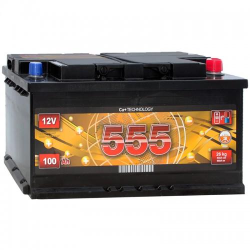 Аккумулятор 555 6СТ-100-А3 R / 100Ah