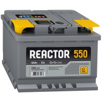 Аккумулятор AKOM Reactor 6CT-55 / 55Ah / 550А / Обратная полярность / 242 x 175 x 190