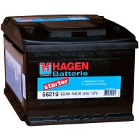 Аккумулятор Hagen Starter 56219 / 62Ah R