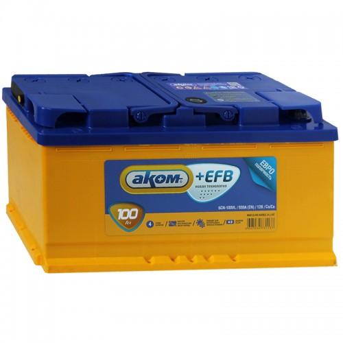 Аккумулятор AKOM +EFB / 100Ah