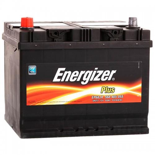 Аккумулятор Energizer Plus / 568 405 055 L / 68Ah EP68JX