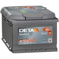 Аккумулятор DETA Senator3 DA602 / 60Ah / Низкий
