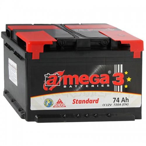 Аккумулятор A-Mega Standard 74 R / 74Ah / Низкий