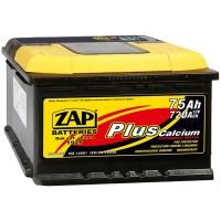 Аккумулятор ZAP Plus 575 19 L / 75Ah