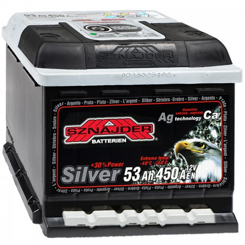 Аккумулятор Sznajder / Silver / 553 25 R / 53Ah / Низкий