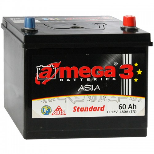 Аккумулятор A-Mega Standard Asia 60JR / 60Ah